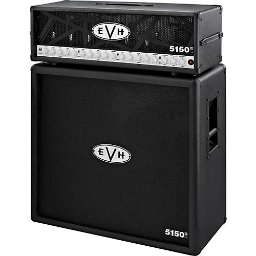 EVH 5150 III 100W Guitar Tube Head Black with 5150 III 412 Guitar Cab Black thumbnail