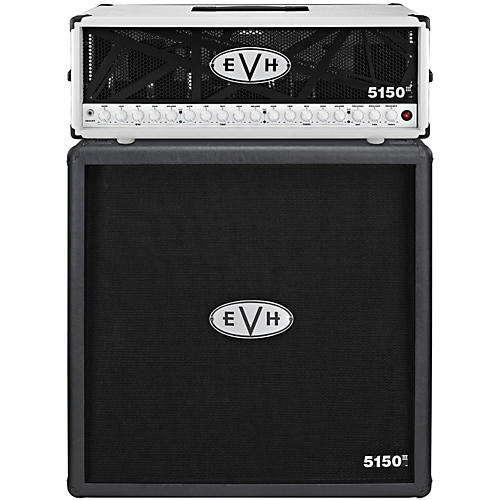 EVH 5150 III 100W Guitar Tube Head Ivory with 5150 III 412 Guitar Cab Black thumbnail
