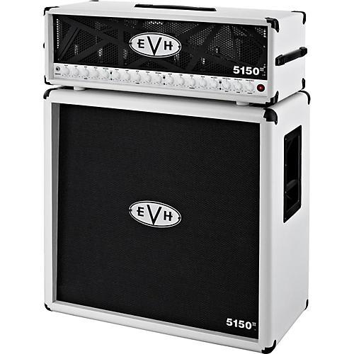 EVH 5150 III 100W Guitar Tube Head Ivory with 5150 III 412 Guitar Cab Ivory thumbnail