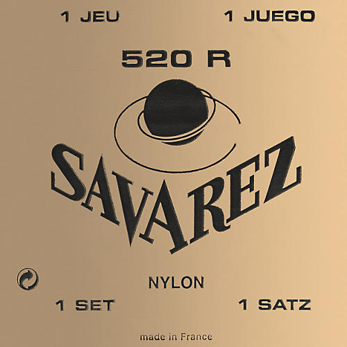 Savarez 520R Traditional Red Card Strong Tension Classical Guitar Strings-thumbnail