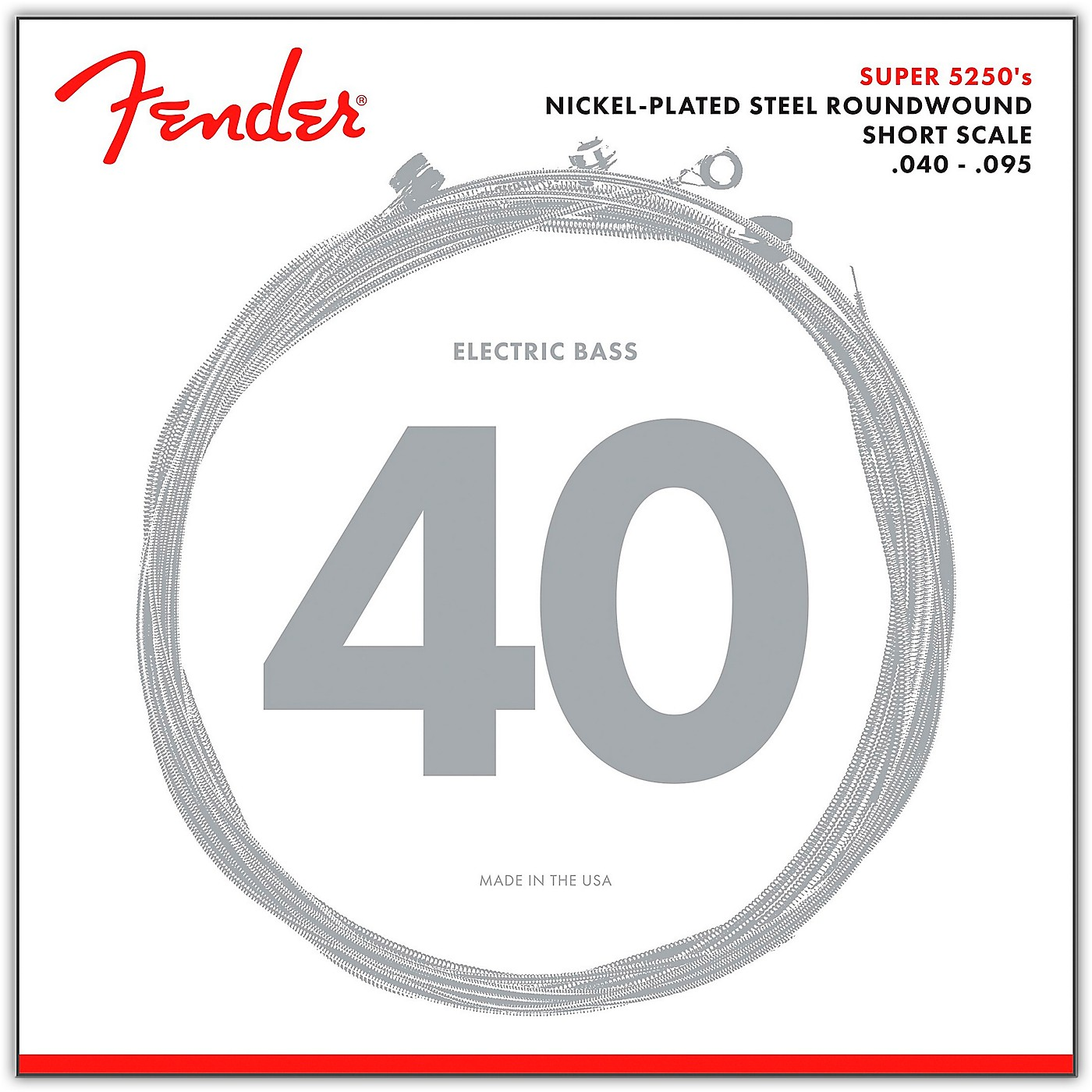 Fender 5250XL Nickel-Plated Steel Short Scale Bass Strings - Extra Light thumbnail