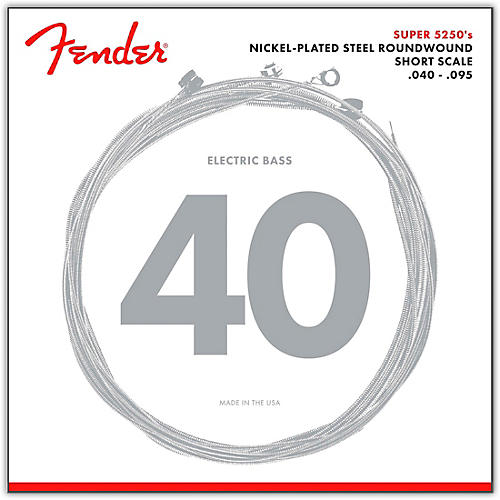 Fender 5250XL Nickel-Plated Steel Short Scale Bass Strings - Extra Light-thumbnail