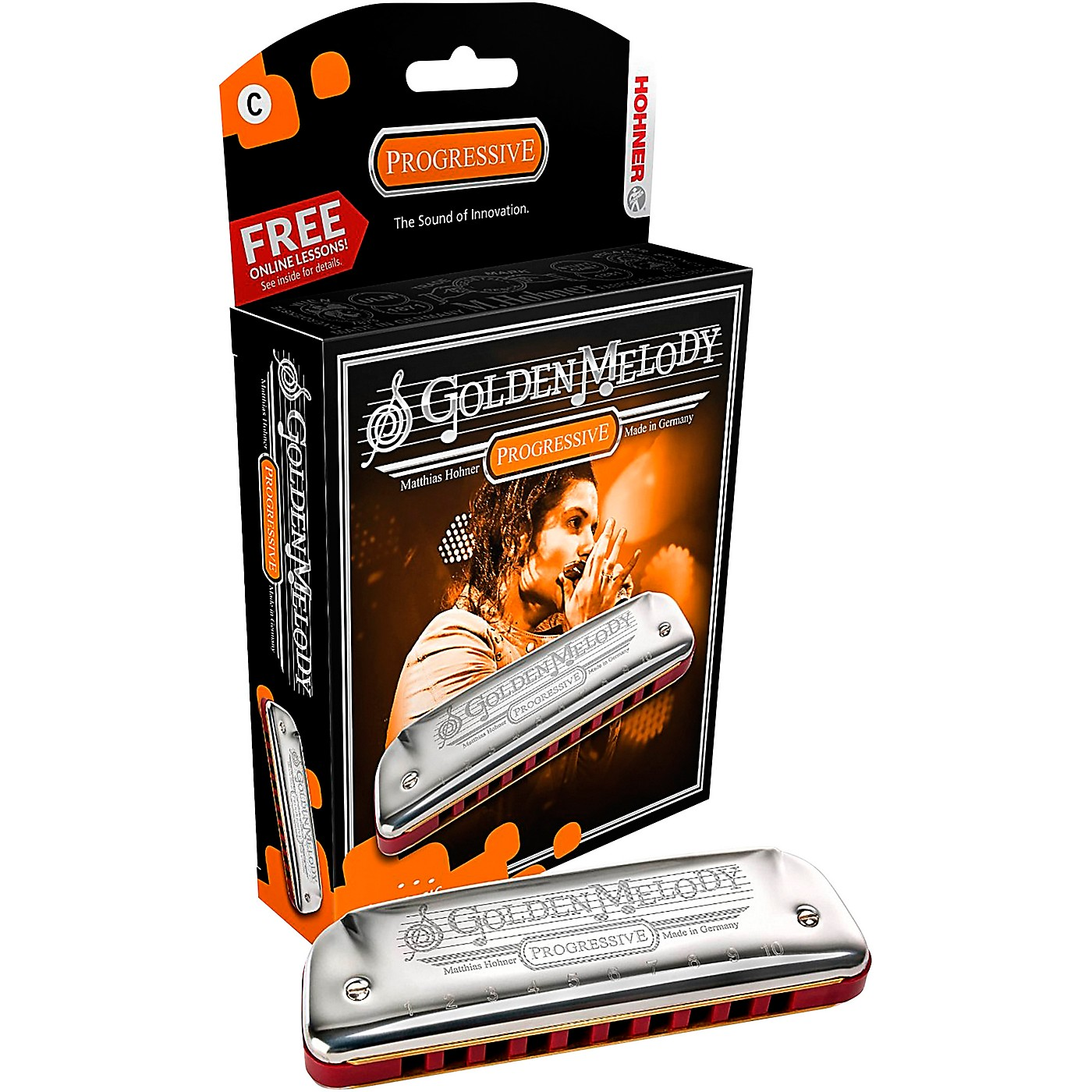 Hohner 542 Golden Melody Harmonica thumbnail