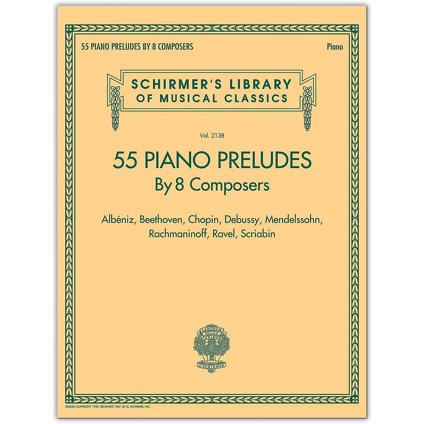 G. Schirmer 55 Piano Preludes By 8 Composers - Schirmer's Library Of Musical Classics thumbnail