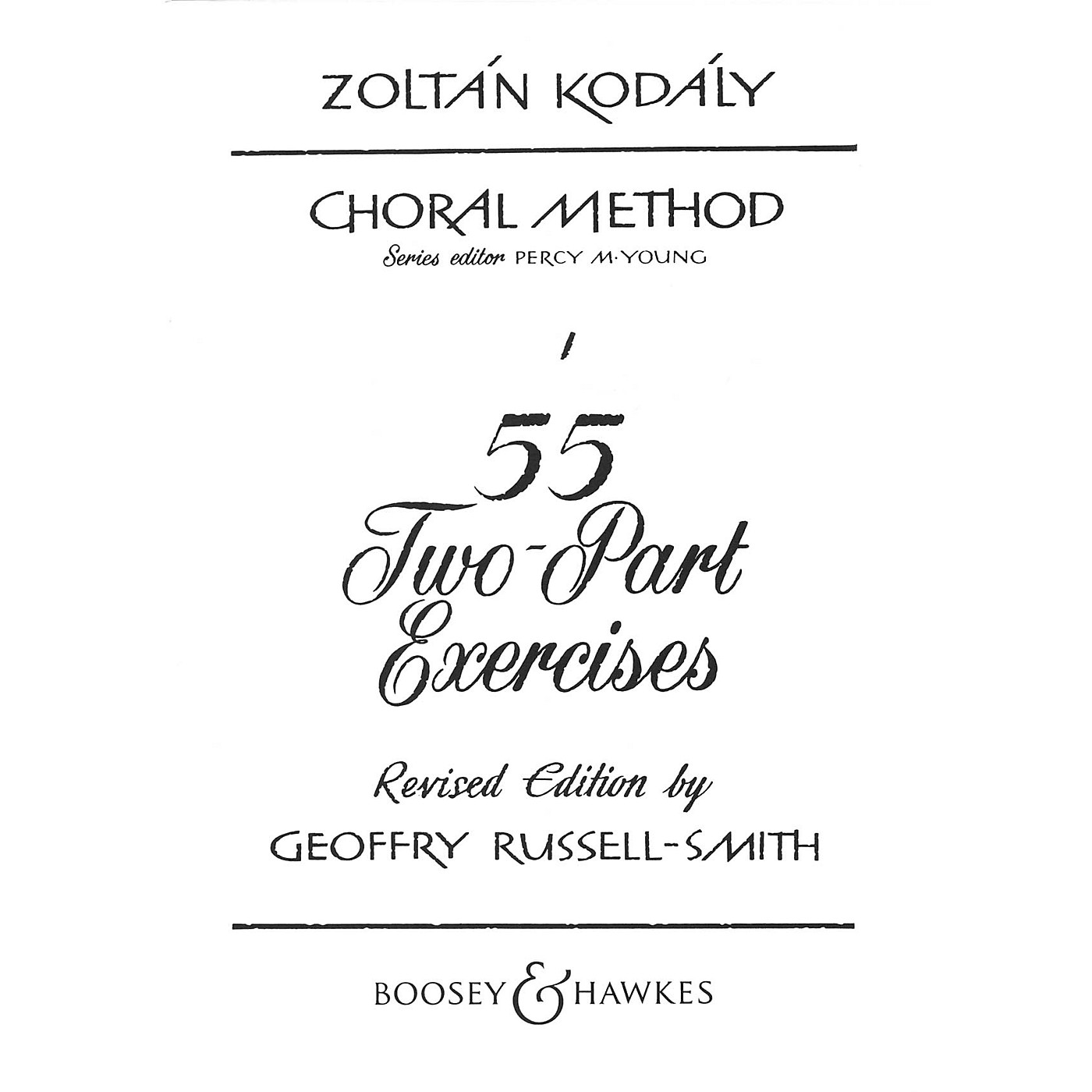 Boosey and Hawkes 55 Two-Part Exercises 2-Part Composed by Zoltán Kodály thumbnail