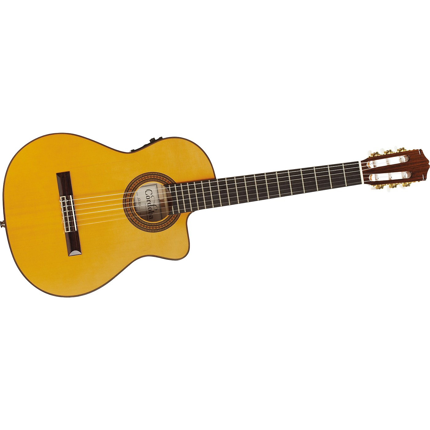 Cordoba 55FCE Thin Body Nylon String Acoustic-Electric Guitar thumbnail
