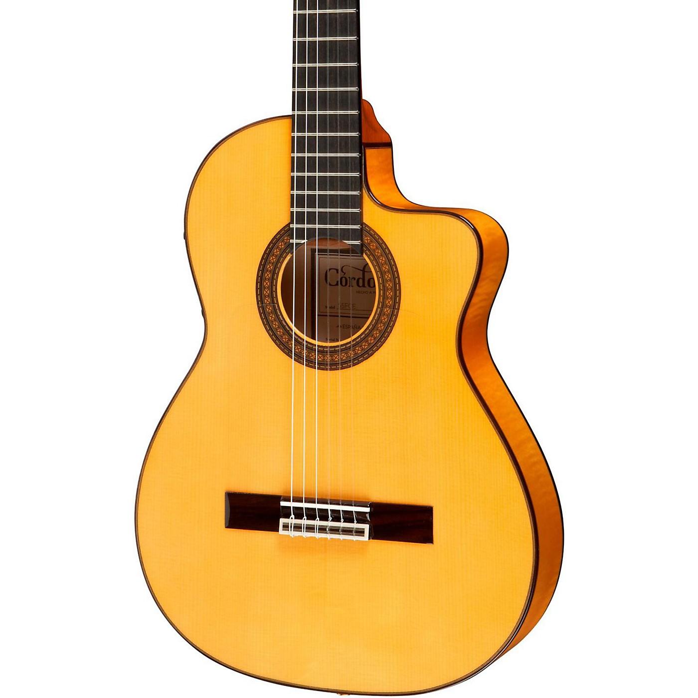 Cordoba 55FCE Thinbody Acoustic-Electric Nylon String Flamenco Guitar thumbnail