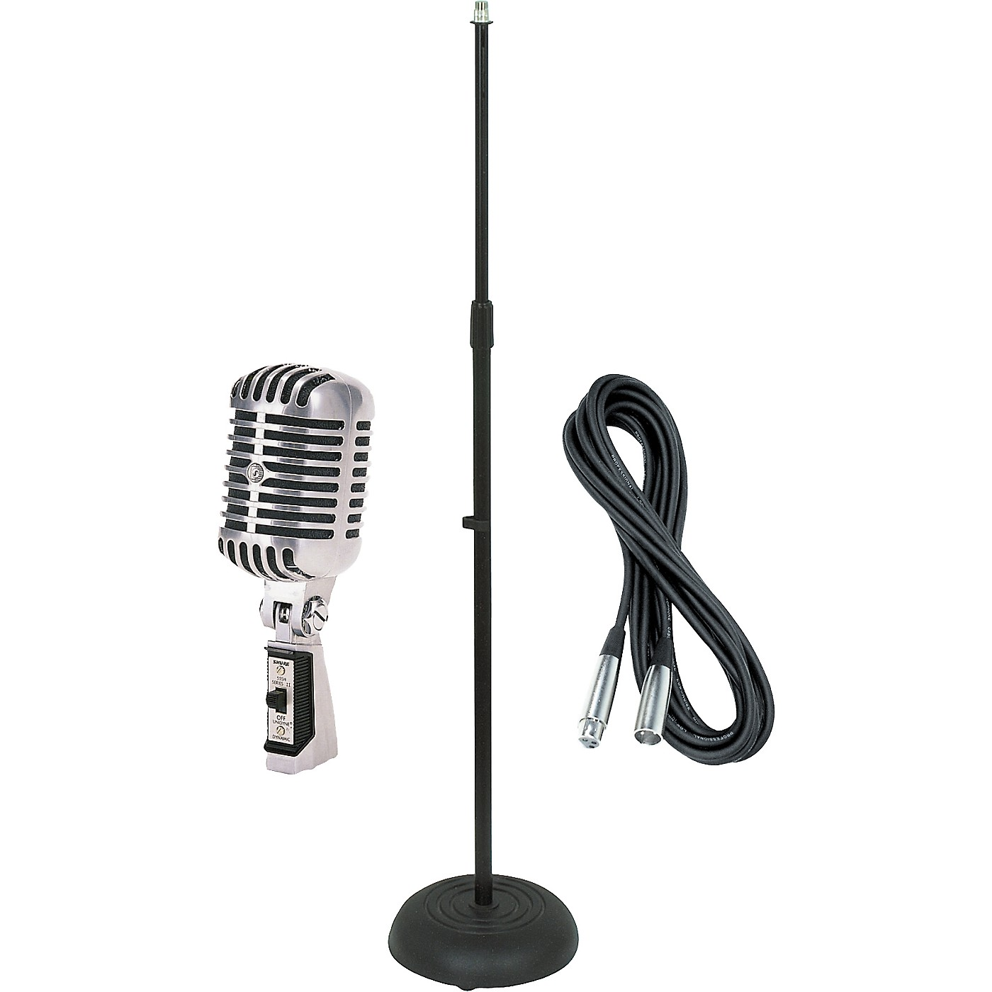 Shure 55SH Dynamic Mic with Cable and Stand thumbnail