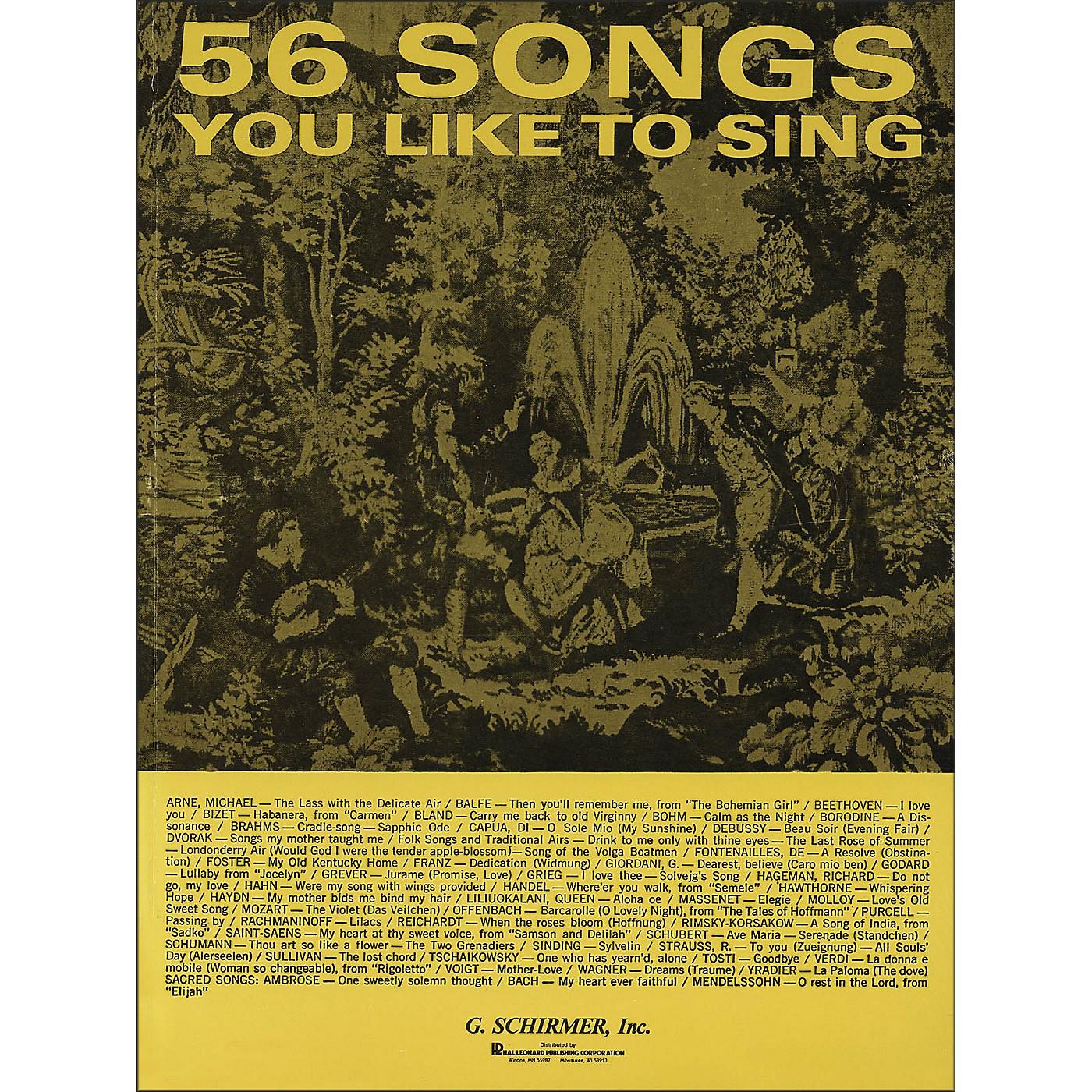 G. Schirmer 56 Songs You Like To Sing thumbnail