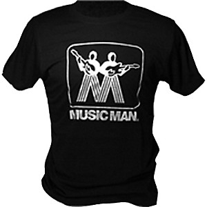 Ernie Ball Music Man Silver Man Logo T-Shirt Black X Large