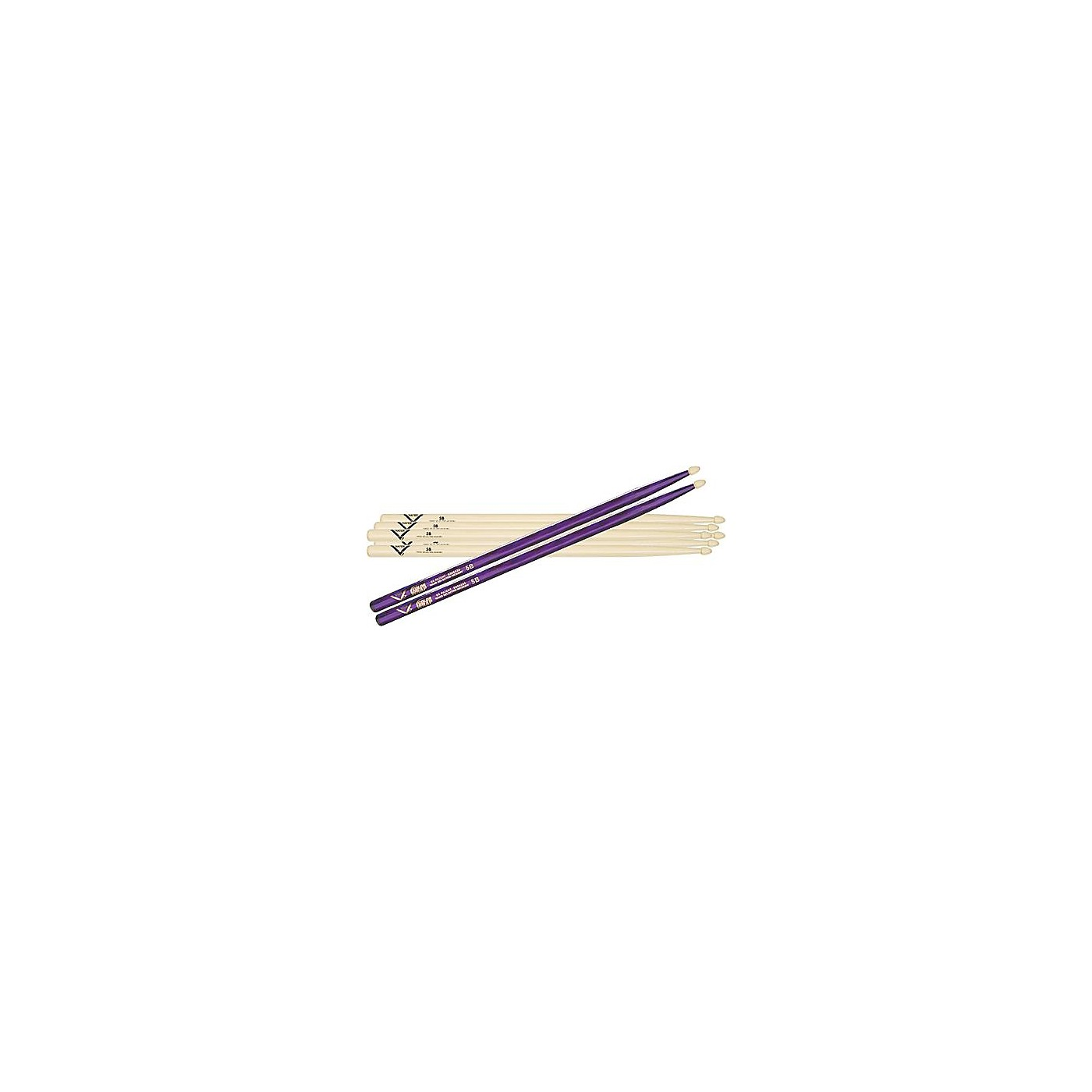 Vater 5B Hickory Wood-Tip Drumstick 3-Pack with Free Color Wrap Pair thumbnail