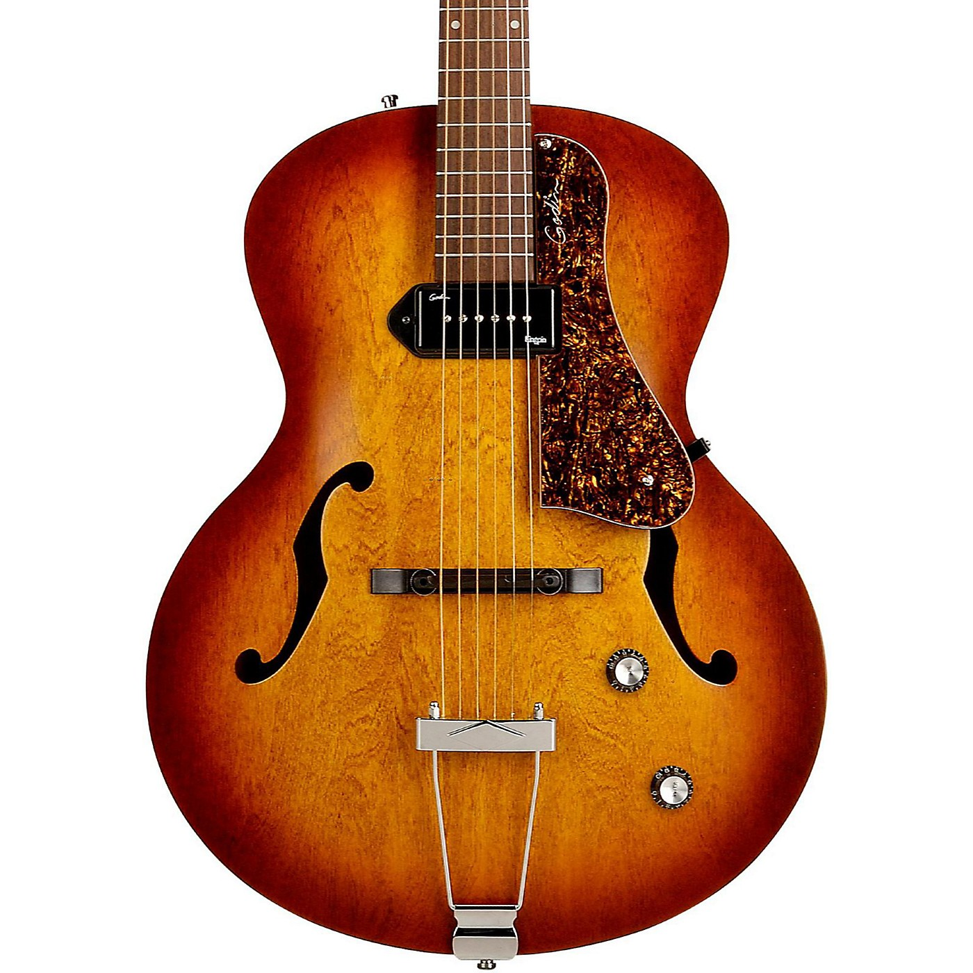 Godin 5th Avenue Kingpin Archtop Hollowbody Electric Guitar With P-90 Pickup thumbnail