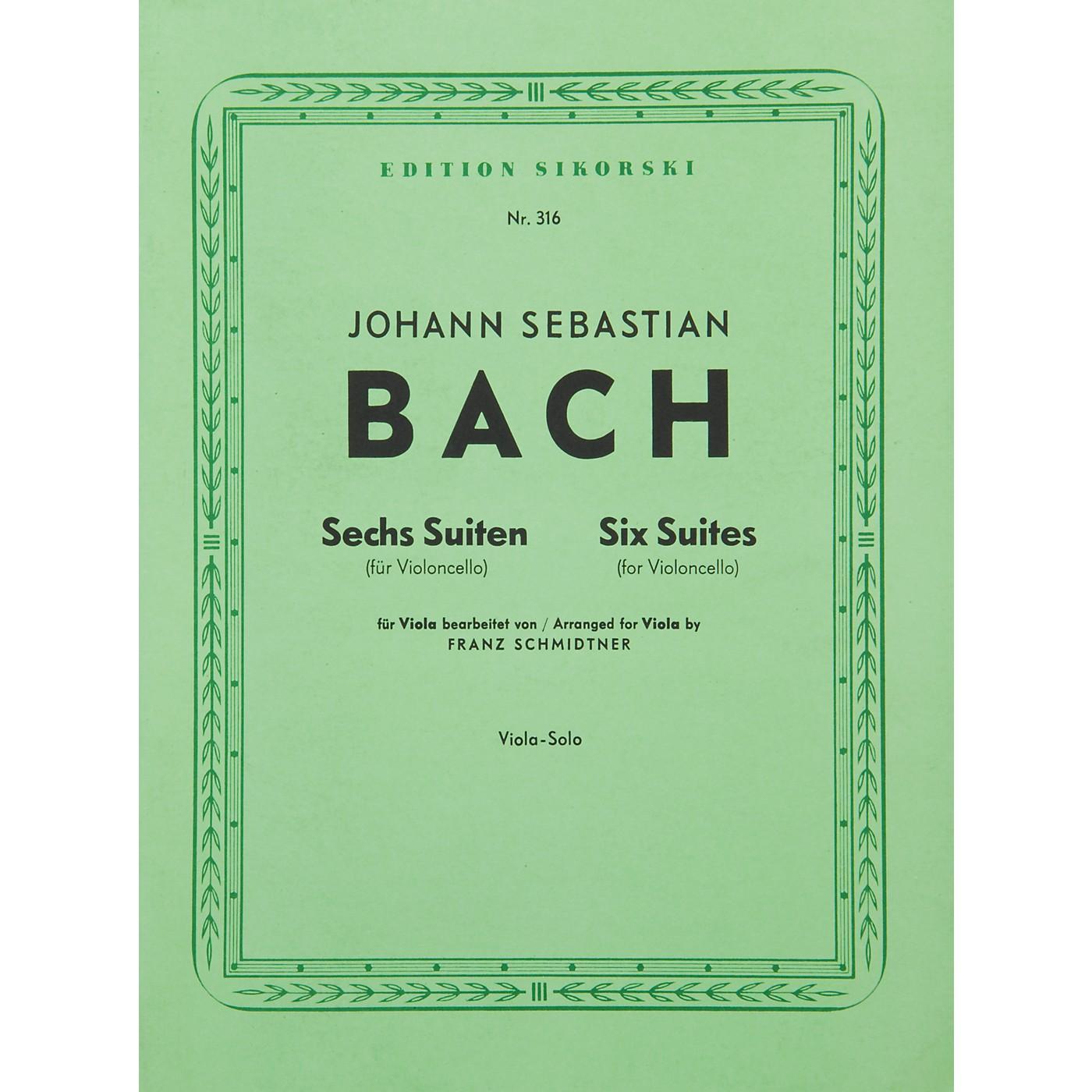 Hal Leonard 6  Bach Suites: Viola thumbnail