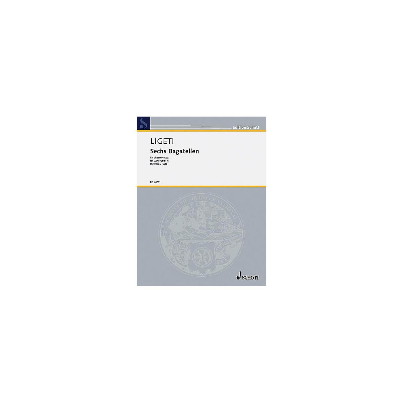 Schott 6 Bagatelles (Wind Quintet Set of Parts) Schott Series by György Ligeti thumbnail
