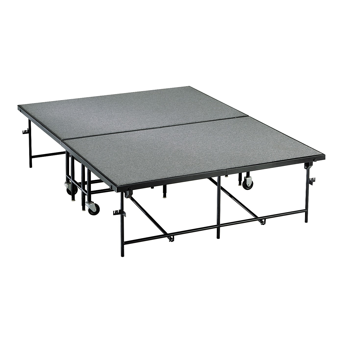 Midwest Folding Products 6' Deep X 8' Wide  Mobile Stage thumbnail