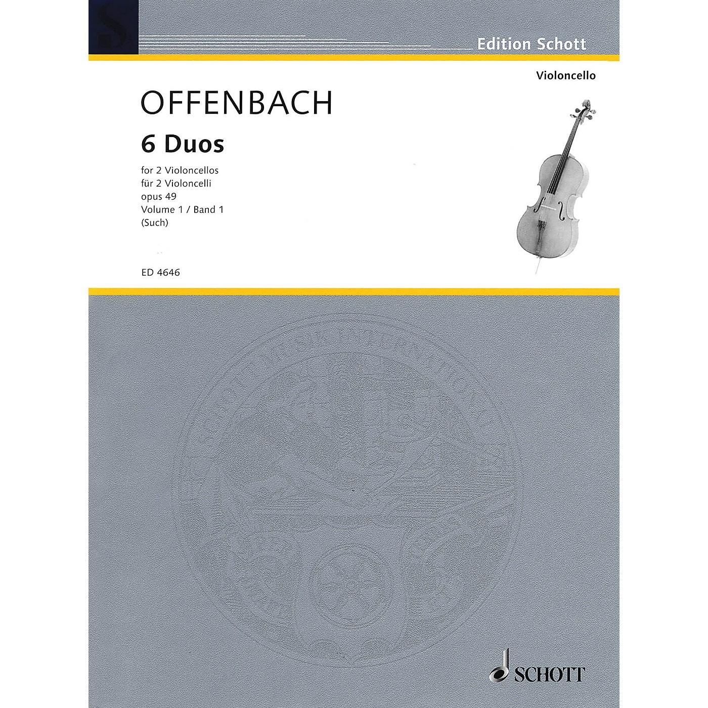 Schott 6 Duos, Op. 49 Vol. 1: Nos. 1-3 (2 Cellos) Schott Series thumbnail