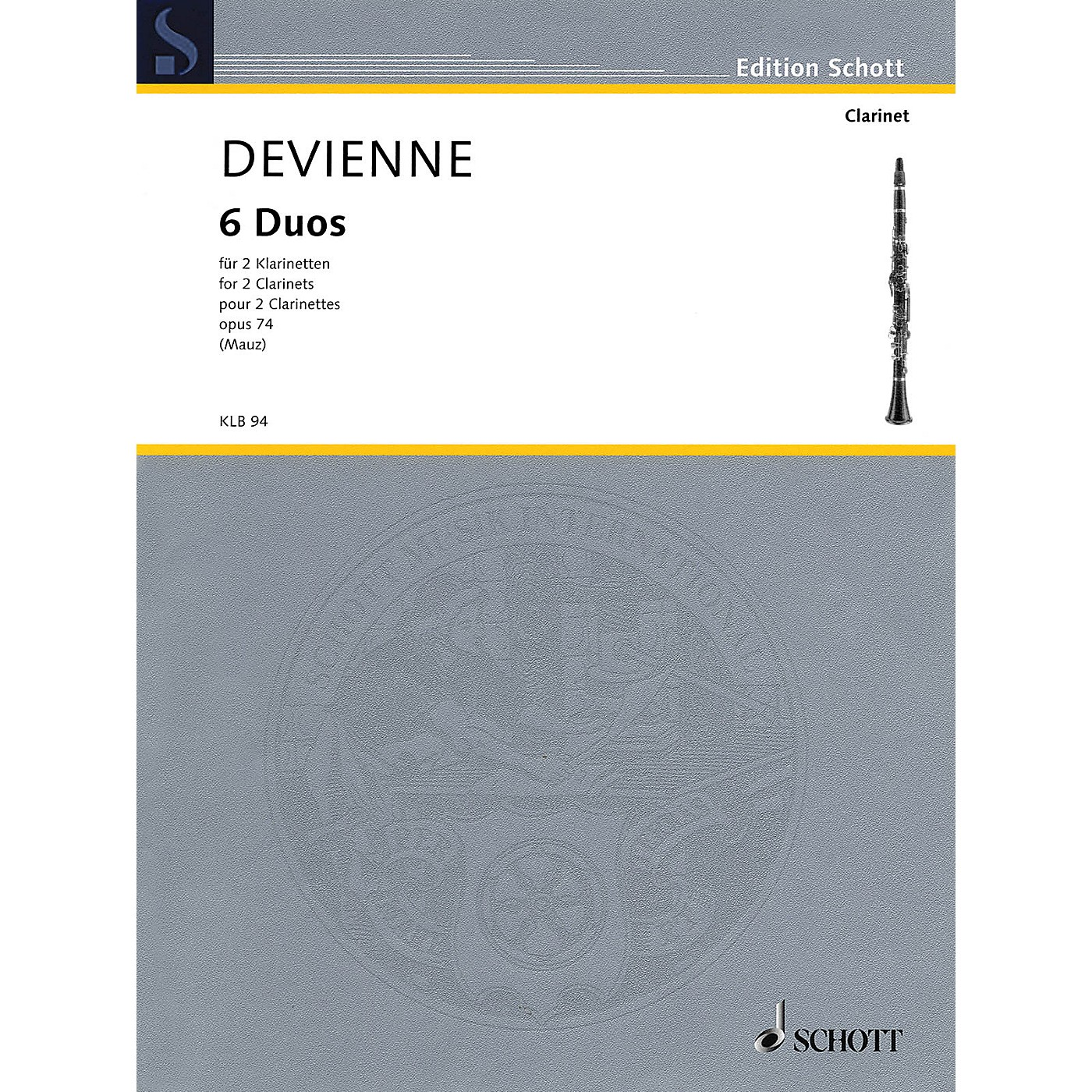 Schott 6 Duos, Op. 74 (for 2 Clarinets - Performance Score) Woodwind Ensemble Series Softcover thumbnail