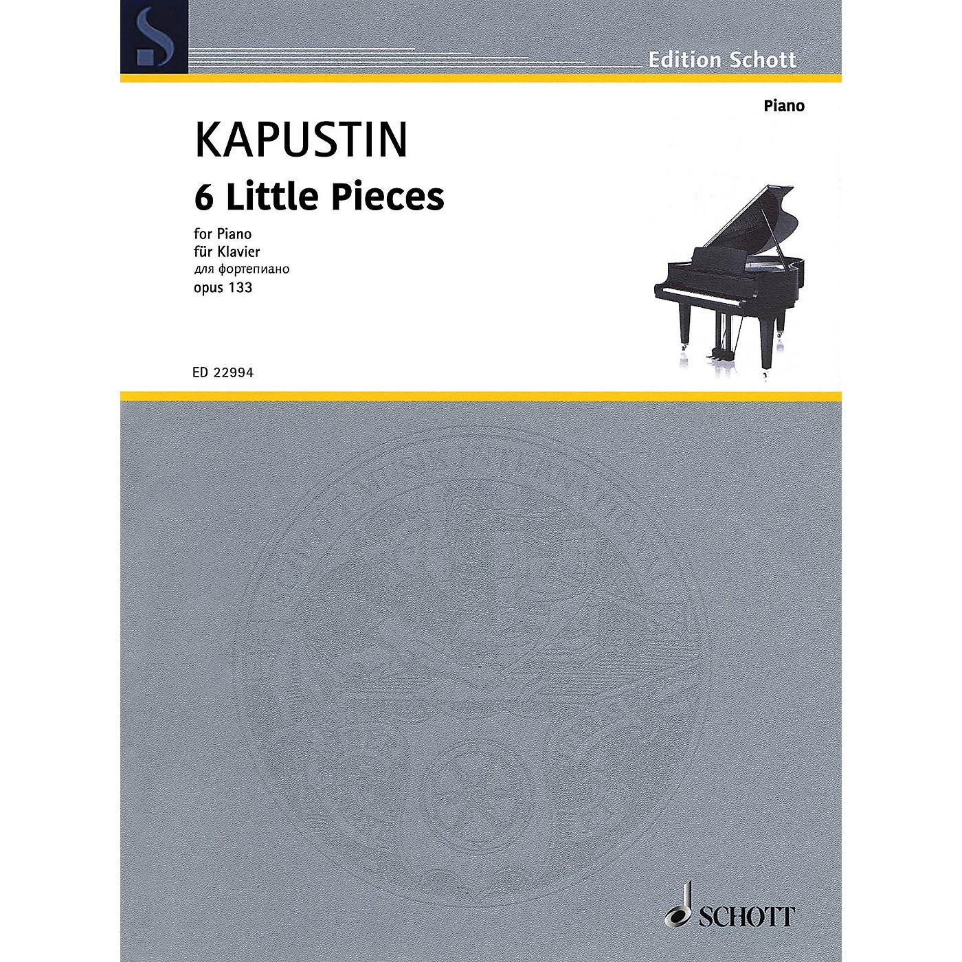 Schott 6 Little Pieces, Op. 133 Piano Solo by Kapustin thumbnail