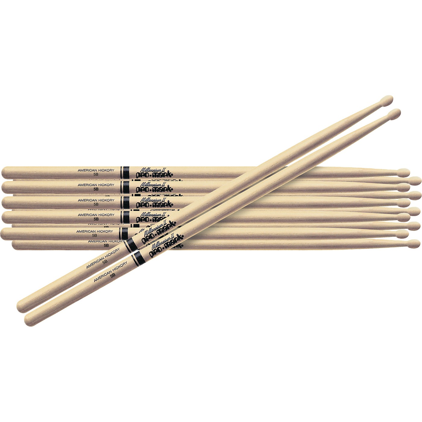 Promark 6-Pair American Hickory Drumsticks thumbnail