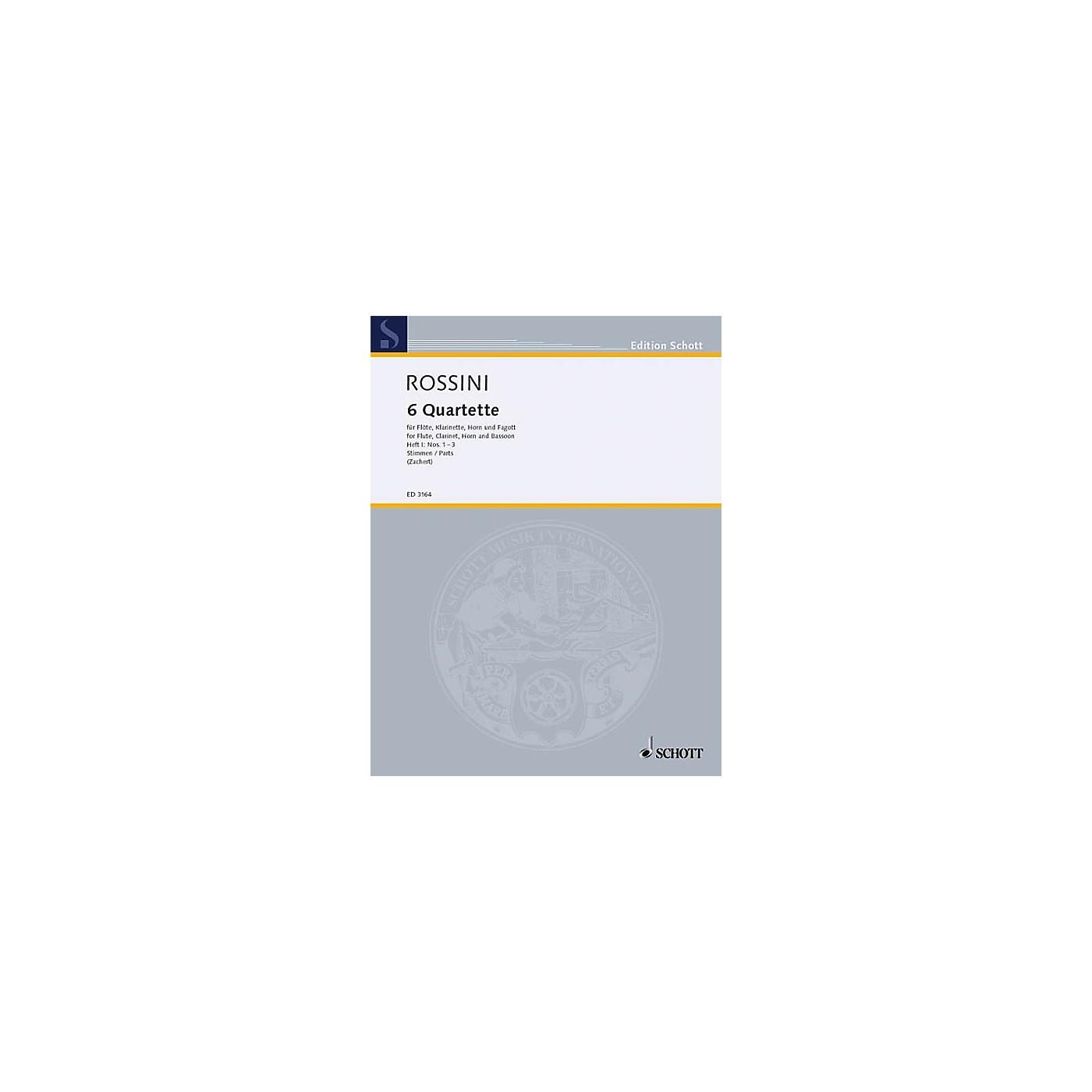 Schott 6 Quartets - Vol. 1 (Set of Parts) Schott Series by Gioacchino Rossini thumbnail