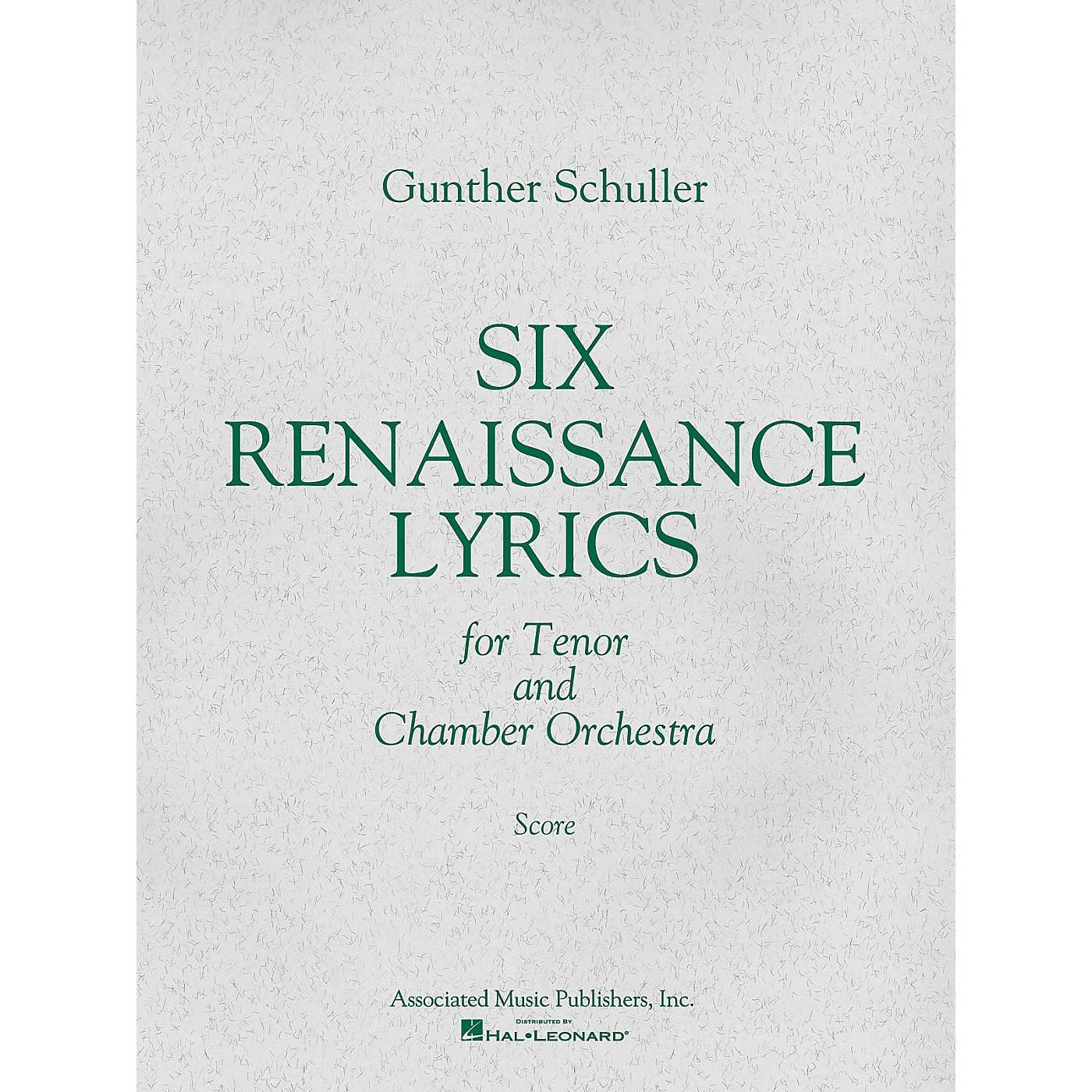 Associated 6 Renaissance Lyrics (1962) (Study Score) Misc Series Composed by Gunther Schuller thumbnail