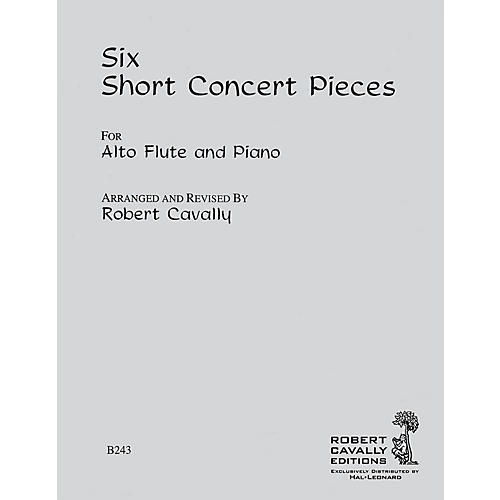 Hal Leonard 6 Short Concert Pieces (Alto Flute and Piano) Robert Cavally Editions Series Arranged by Robert Cavally thumbnail
