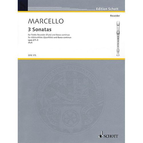 Schott 6 Sonatas, Op. 2, Volume 1 (1-3) (for Treble Recorder and B.C.) Schott Series thumbnail