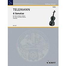 Schott Music 6 Sonatas Schott Series Composed by Georg Philipp Telemann