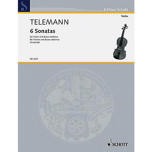 Schott Music 6 Sonatas Schott Series Composed by Georg Philipp Telemann thumbnail