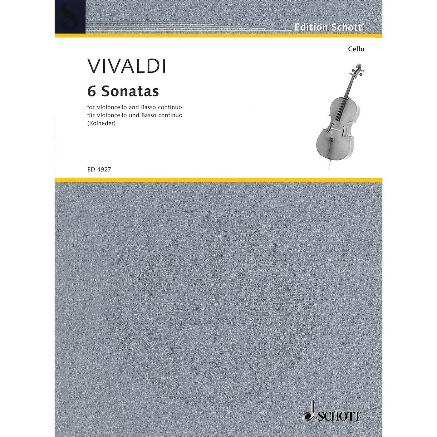 Schott 6 Sonatas (for Violoncello and Basso Continuo) Schott Series thumbnail