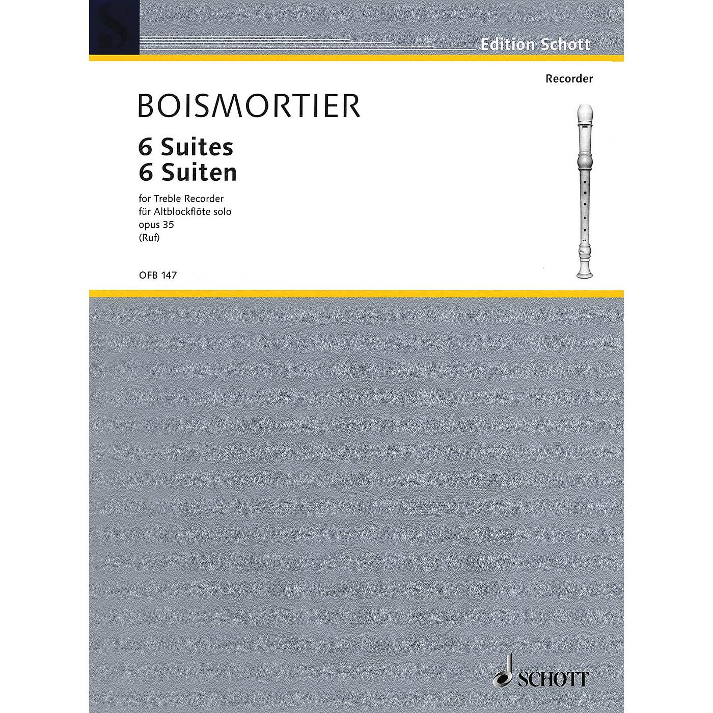 Schott 6 Suites Op. 35 (for Treble Recorder) Schott Series thumbnail