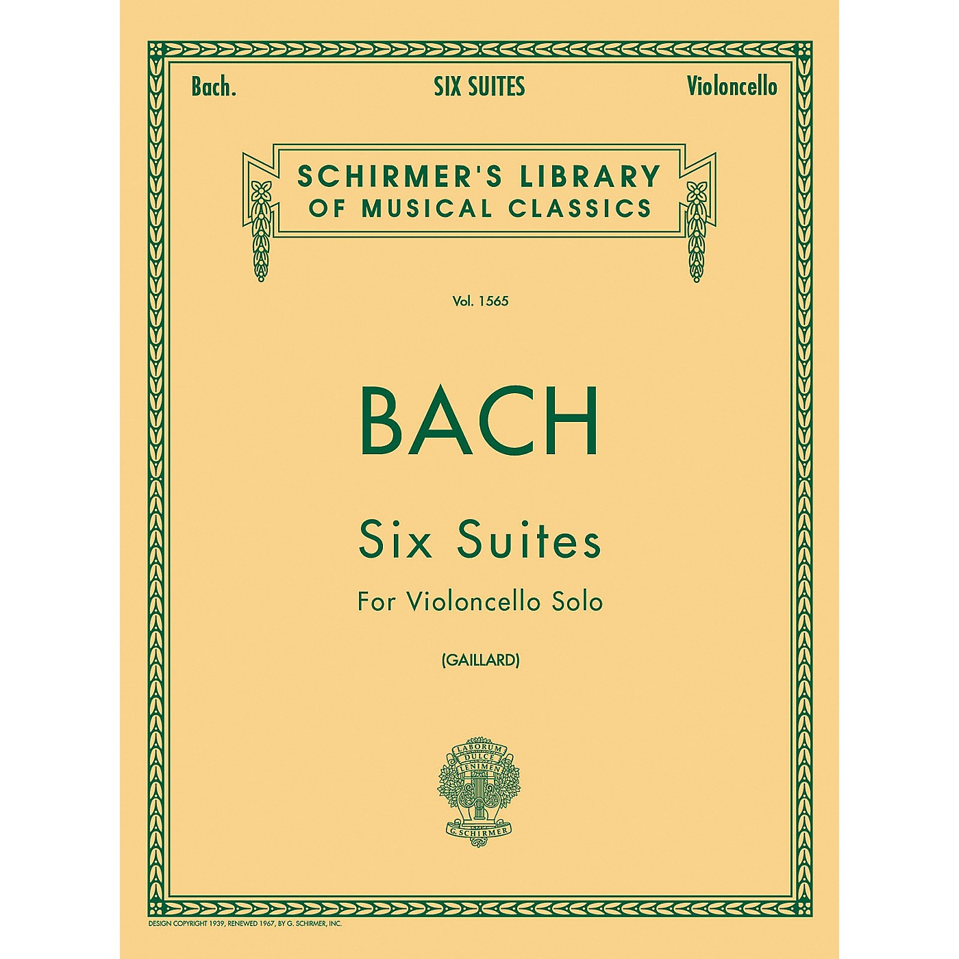 G. Schirmer 6 Suites for Unaccompanied Violoncello Bwv1007-1012 By Bach thumbnail