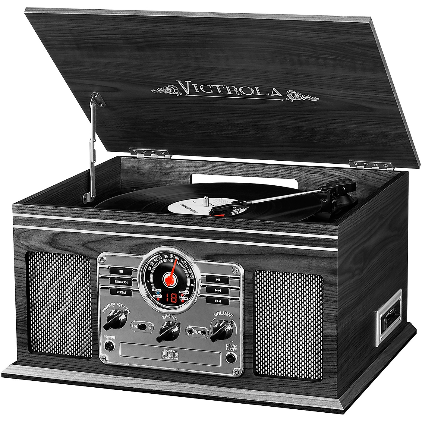 Victrola 6-in-1 Nostalgic Bluetooth Record Player with CD, Cassette and Radio thumbnail