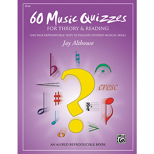 Alfred 60 Music Quizzes for Theory and Reading (Book) thumbnail