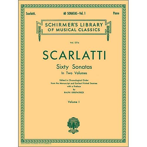 G. Schirmer 60 Sonatas Vol 1 Piano Contains Sonatas No 1 - No 30 By Scarlatti-thumbnail