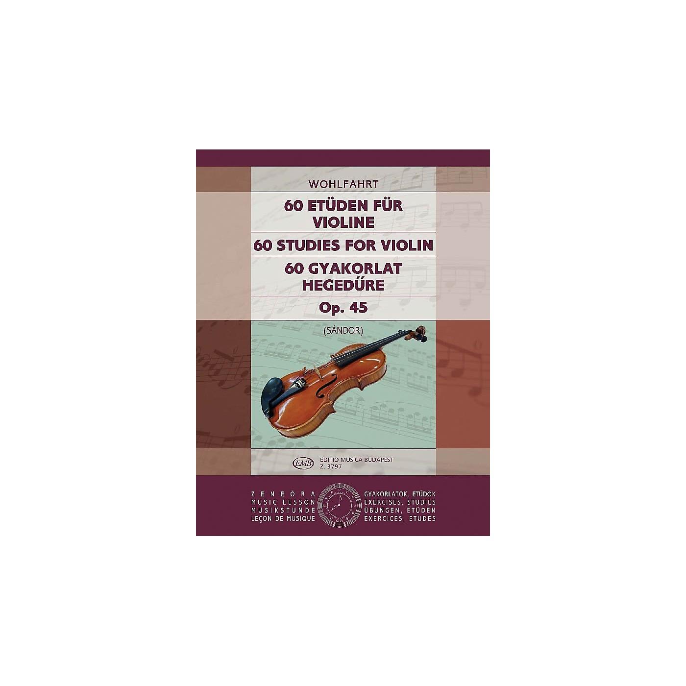Editio Musica Budapest 60 Studies, Op. 45 EMB Series by Heinrich Wohlfahrt thumbnail