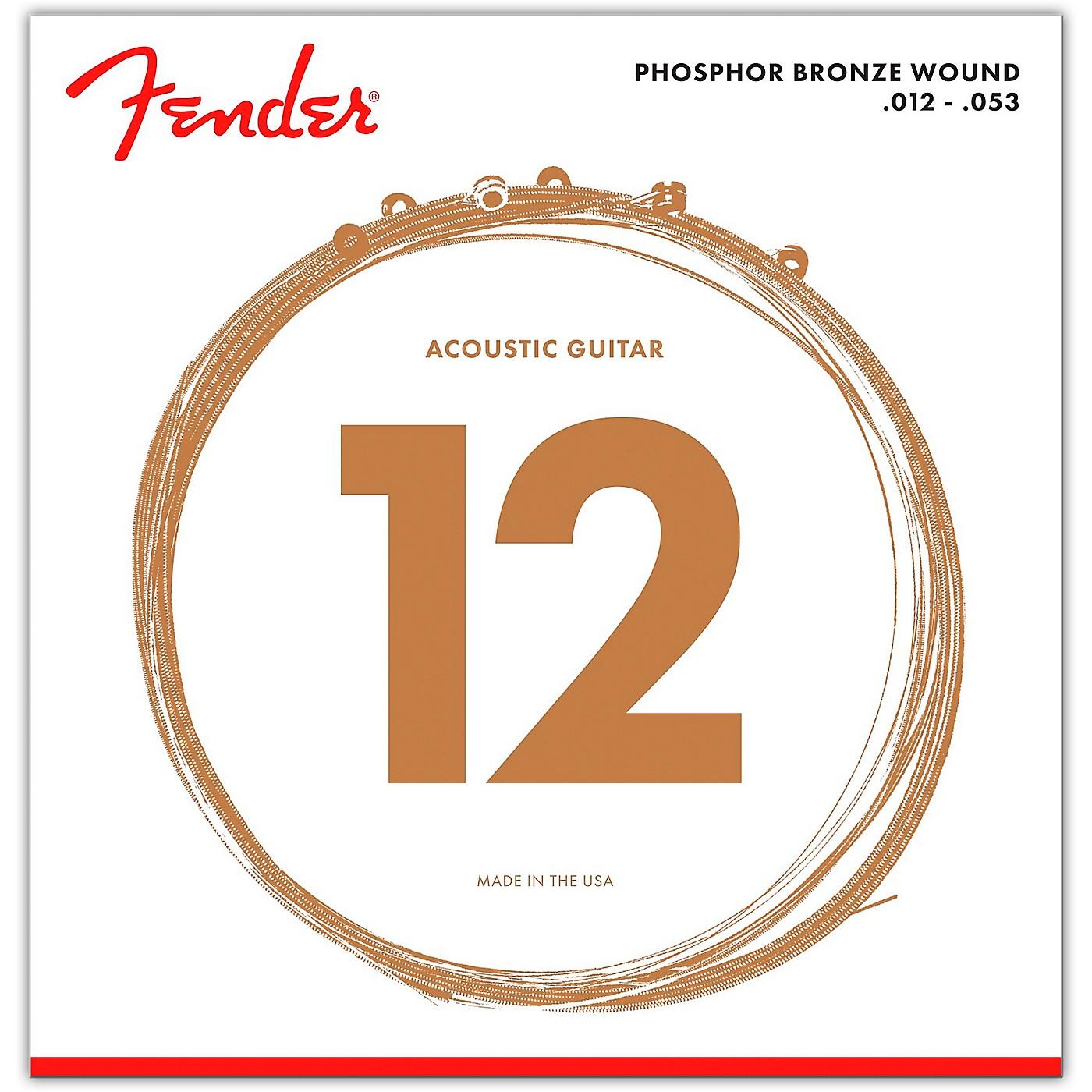 Fender 60L Phosphor Bronze Acoustic Strings - Light thumbnail