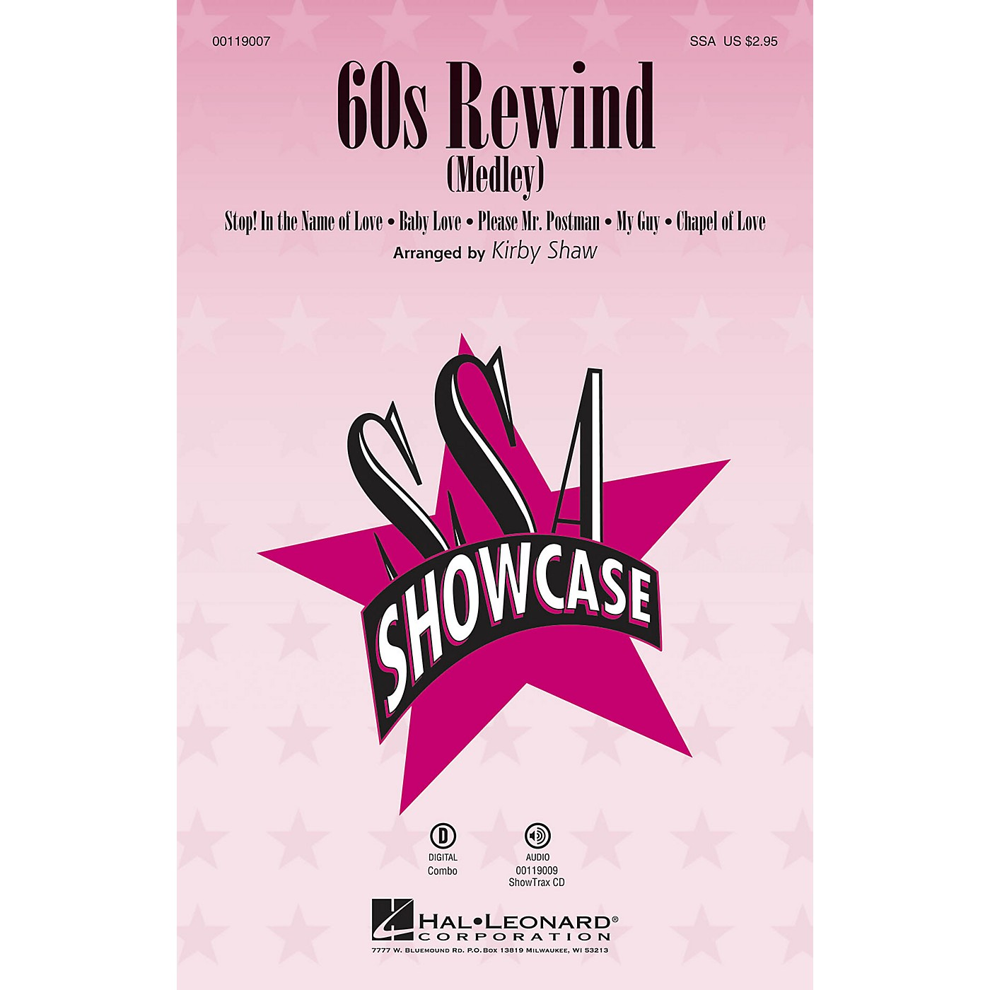 Hal Leonard 60s Rewind (Medley) (ShowTrax CD) ShowTrax CD Arranged by Kirby Shaw thumbnail
