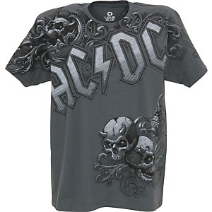 AC/DC AC/DC Night Prowler T-Shirt Grey Large