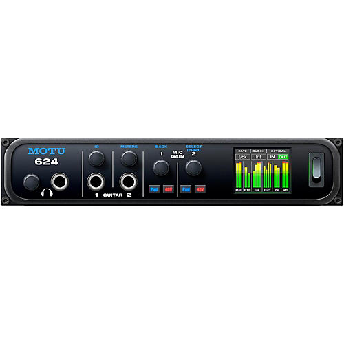 MOTU 624 Thunderbolt / USB3 / AVB Ethernet audio interface with DSP and mixing thumbnail