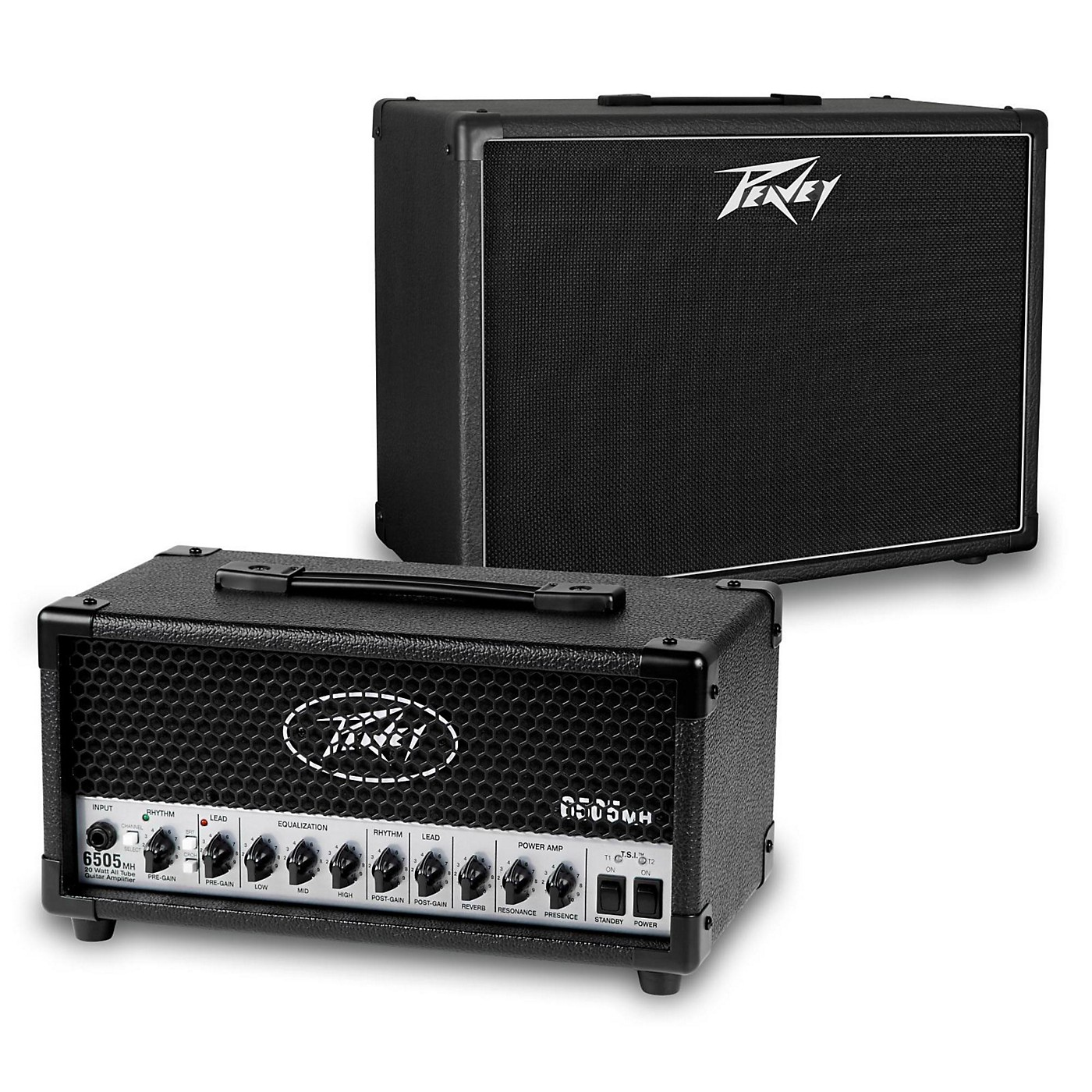 Peavey 6505 MH Micro 20W Tube Guitar Amp Head with 112-6 25W 1x12 Cabinet thumbnail