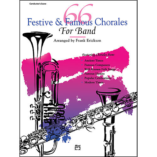 Alfred 66 Festive and Famous Chorales for Band Percussion Snare Drum Bass Drum-thumbnail