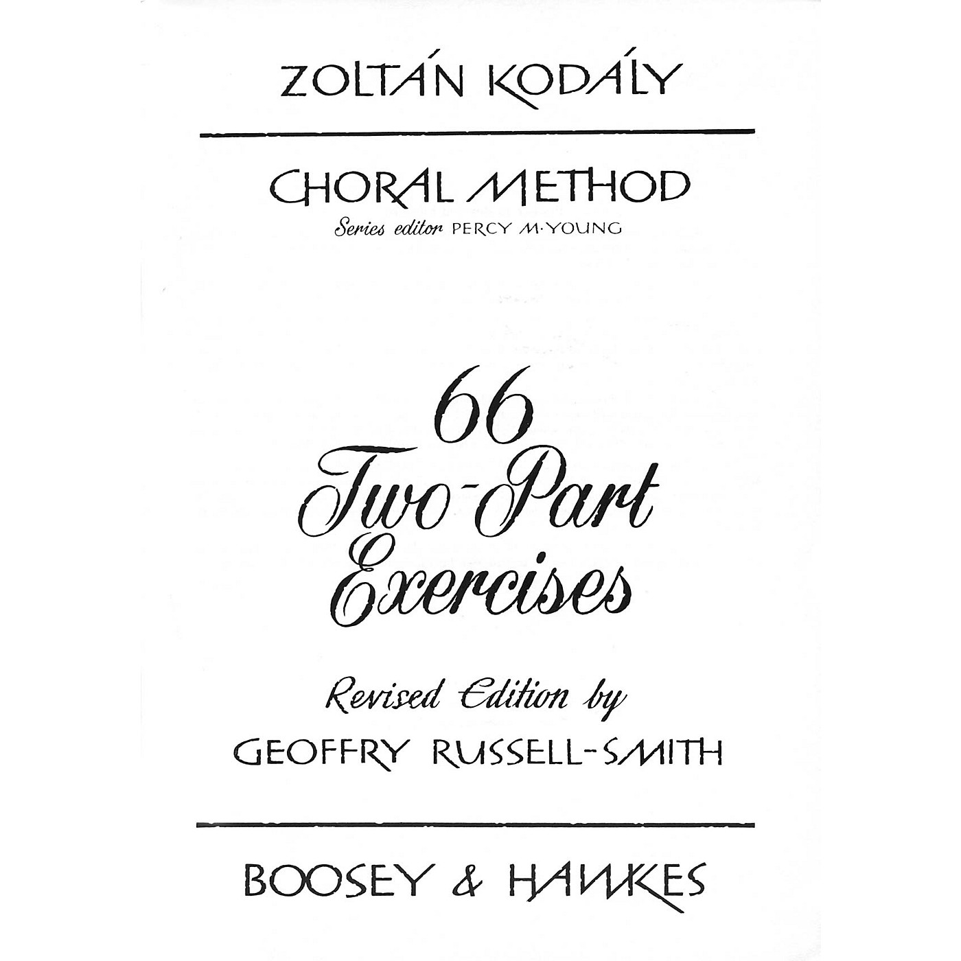 Boosey and Hawkes 66 Two-Part Exercises 2-Part Composed by Zoltán Kodály thumbnail