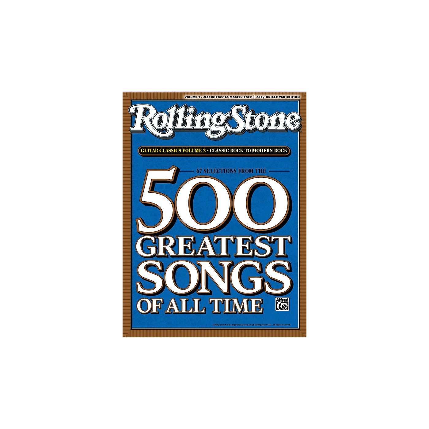 Alfred 67 Selections From The 500 Greatest Songs Of All Time: Classic Rock To Modern Rock - Easy Guitar thumbnail
