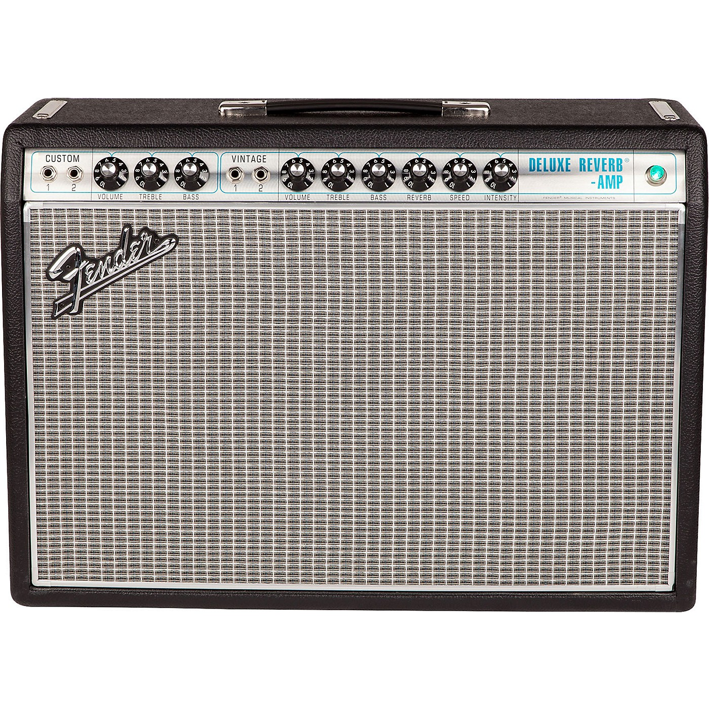 Fender '68 Custom Deluxe Reverb 22W 1x12 Tube Guitar Combo Amp with Celestion G12V-70 Speaker thumbnail