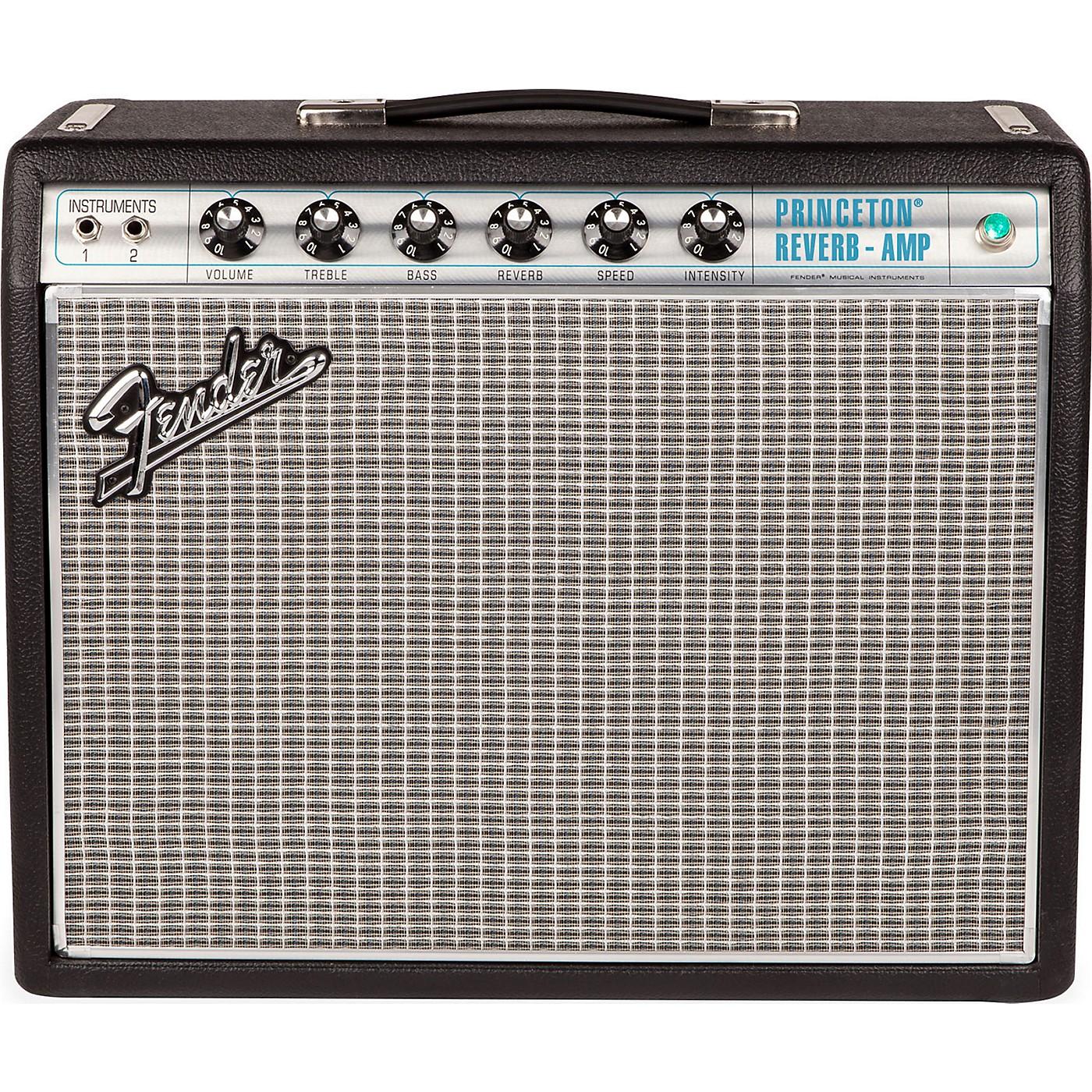 Fender '68 Custom Princeton Reverb 12W 1x10 Tube Guitar Combo Amp with Celestion Ten 30 Speaker thumbnail