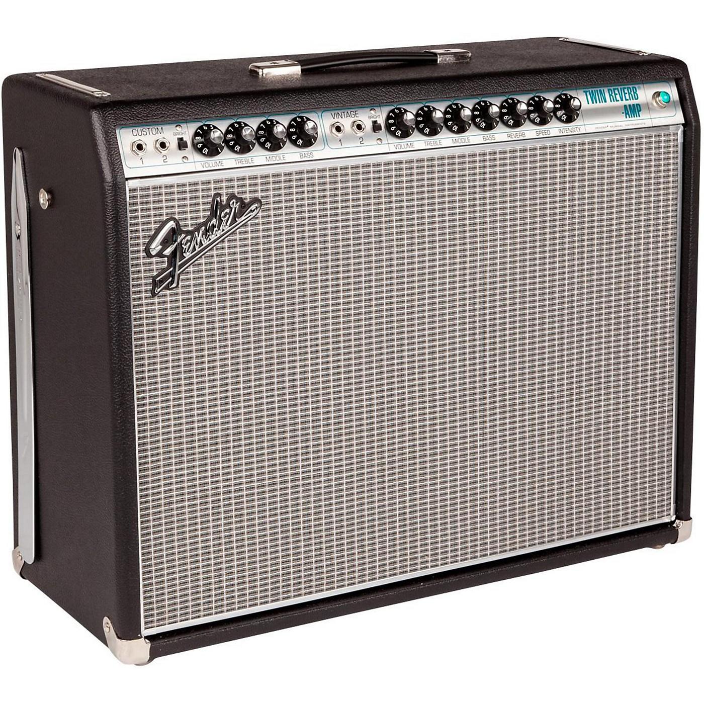 Fender '68 Custom Twin Reverb 85W 2x12 Tube Guitar Combo Amp with Celestion G12V-70s Speaker thumbnail