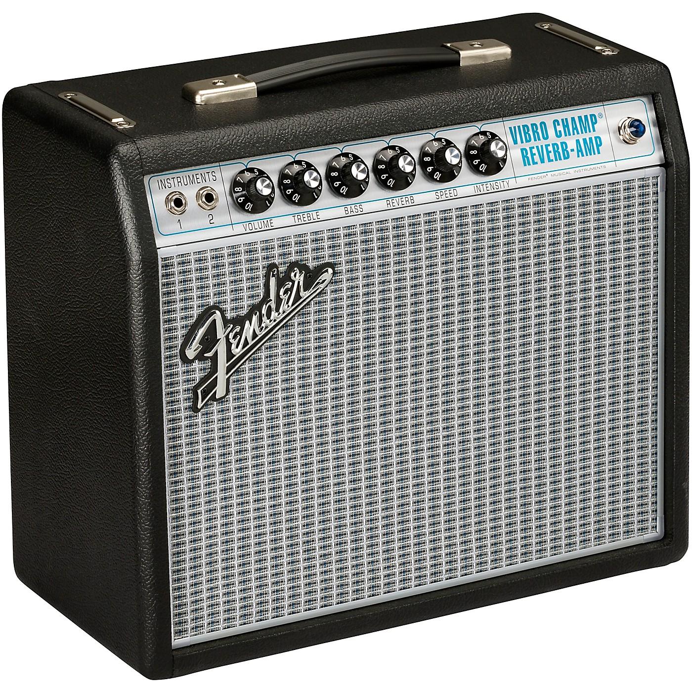 Fender '68 Custom Vibro Champ Reverb 5W 1x10 Guitar Combo Amp thumbnail