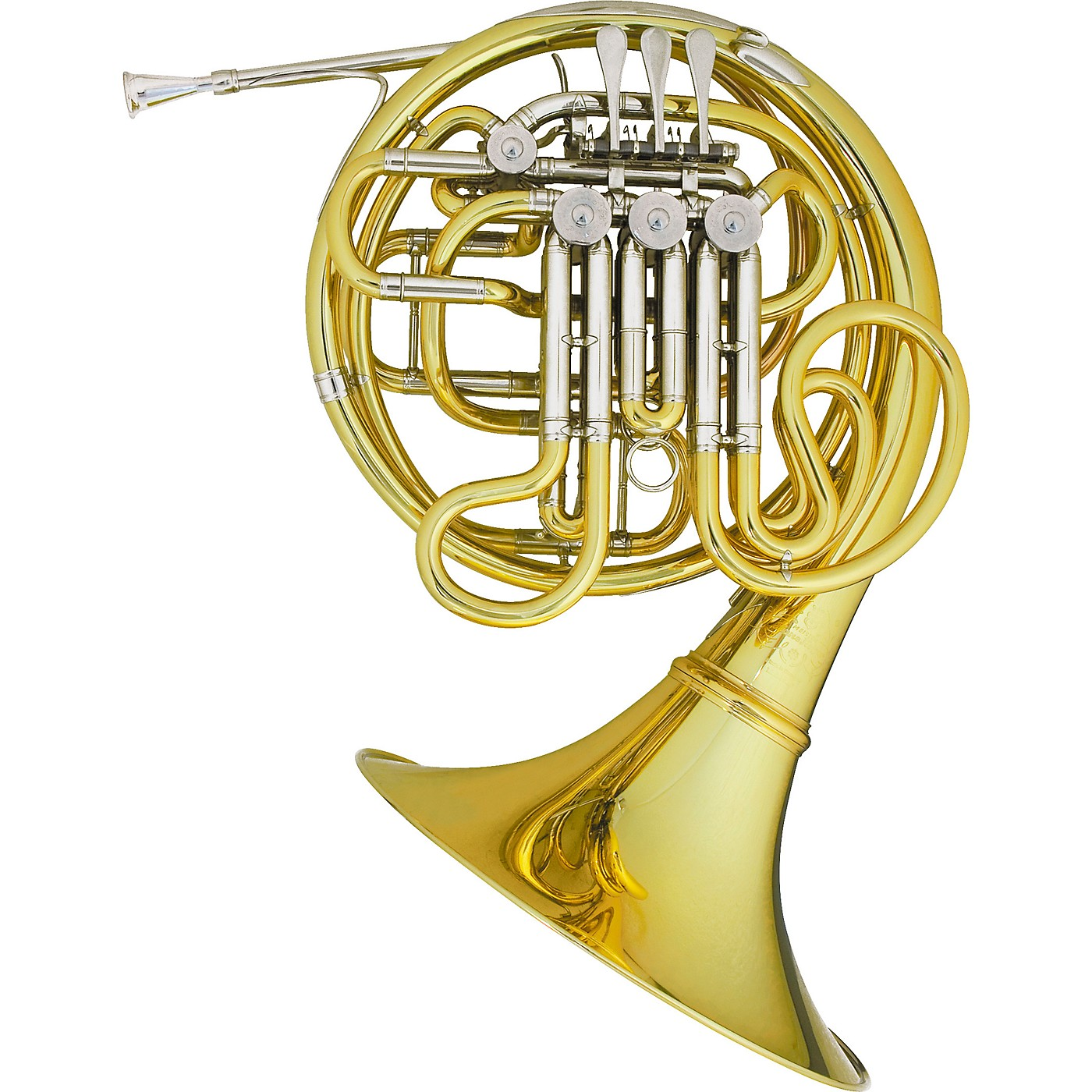 Hans Hoyer 6801A Heritage Kruspe Style Series Double Horn with Mechanical Linkage and Detachable Bell thumbnail