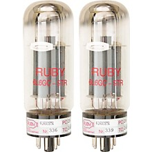 Ruby 6L6GCMSTR Matched Amp Tubes